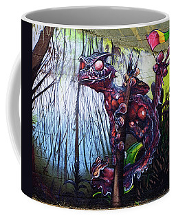 Monster With Flag Coffee Mug