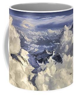 Coffee Mug featuring the painting Mont Blanc by Muhie Kanawati