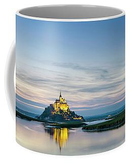 Mont-saint-michel Abbey At Sunset Coffee Mug
