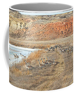 Coffee Mug featuring the digital art Montana Spring Thaw by Aliceann Carlton