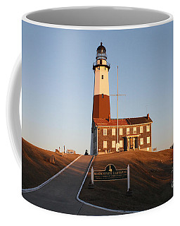 Montauk Lighthouse Entrance Coffee Mug by John Telfer
