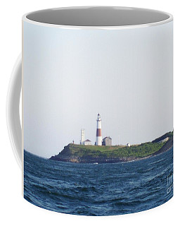 Montauk Lighthouse From The Atlantic Ocean Coffee Mug by John Telfer