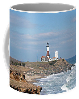Montauk Lighthouse View From Camp Hero Coffee Mug