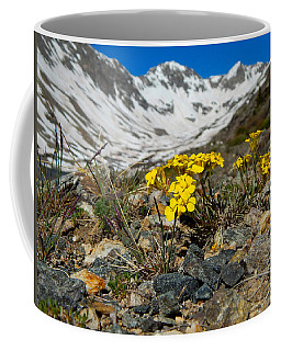 Blue Lakes Colorado Wildflowers Coffee Mug