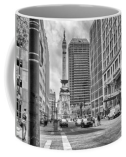 Coffee Mug featuring the photograph Monument Circle by Howard Salmon
