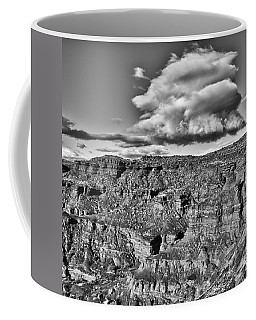Coffee Mug featuring the photograph Monument Valley 5 Bw by Ron White