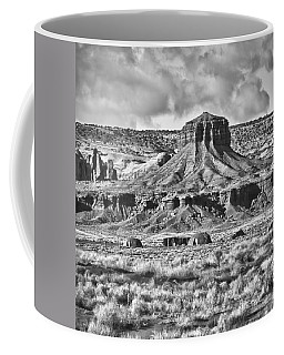 Coffee Mug featuring the photograph Monument Valley 7 Bw by Ron White