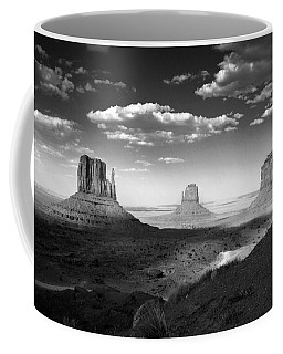 Monument Valley In Black And White Coffee Mug