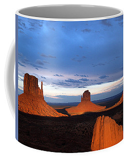 Coffee Mug featuring the photograph Monument Valley @ Sunset 2 by Jeff Brunton