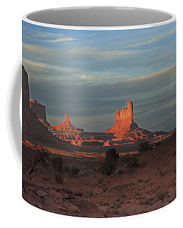 Coffee Mug featuring the photograph Monument Valley Sunset by Alan Vance Ley