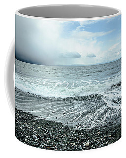 Moody Waves French Beach Coffee Mug