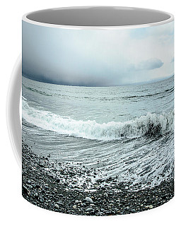 Moody Shoreline French Beach Coffee Mug