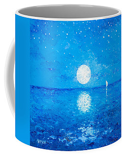Moon And Stars Coffee Mug by Jan Matson