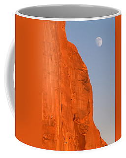 Moon At Monument Valley Coffee Mug