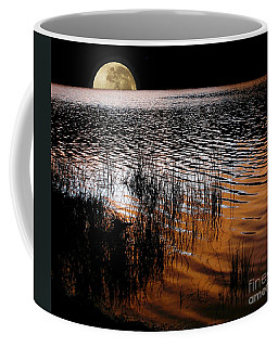 Moon Catching A Glimpse Of Sunset Coffee Mug