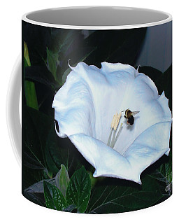 Coffee Mug featuring the photograph Moon Flower by Thomas Woolworth