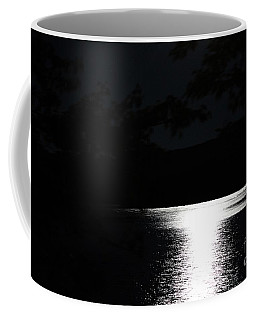 Moon On Waterton Lake Coffee Mug