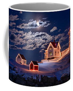 Moon Over Nubble Coffee Mug