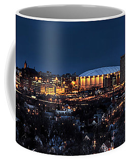 Moon Over The Carrier Dome Coffee Mug by Everet Regal