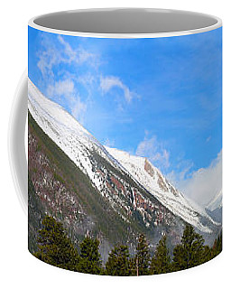 Moon Over The Rockies Coffee Mug