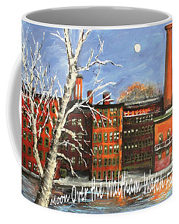 Coffee Mug featuring the painting Moon Over Waltham Watch by Rita Brown