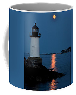 Moon Over Winter Island Salem Ma Coffee Mug