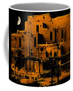 Moon Rise At The Pueblo Coffee Mug