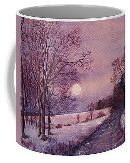 Coffee Mug featuring the painting Moon Rising by Joy Nichols