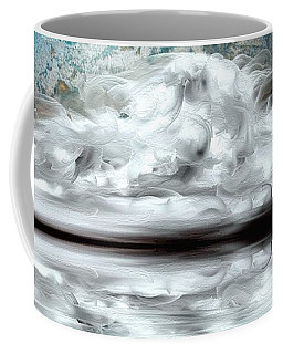 Coffee Mug featuring the mixed media Moon River by Greg Moores
