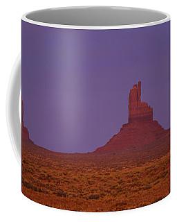 Moon Shining Over Rock Formations Coffee Mug