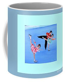 Moonlight Skating. Card Coffee Mug