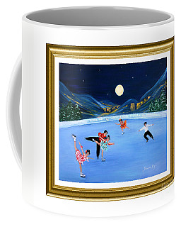Moonlight Skating. Inspirations Collection. Card Coffee Mug