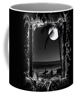 Coffee Mug featuring the photograph Moonlight Surf by Athala Carole Bruckner
