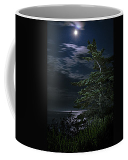 Moonlit Treescape Coffee Mug by Marty Saccone