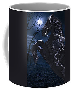 Moonlit Warrior Coffee Mug by Wes and Dotty Weber