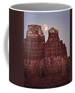 Coffee Mug featuring the photograph Moonrise In Utah by Christopher McKenzie