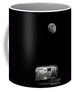 Moonrise Over Airstream Coffee Mug