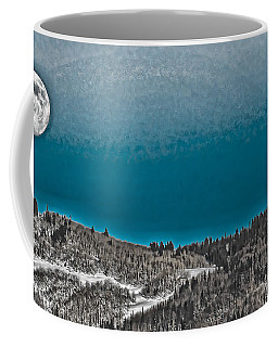 Coffee Mug featuring the photograph Moonrise Over The Mountain by Don Schwartz