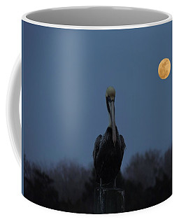 Coffee Mug featuring the photograph Moon's Up by Laura Ragland
