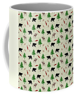 Moose And Bear Pattern Coffee Mug