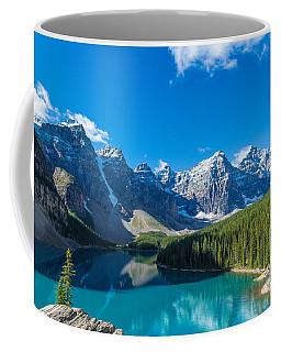 Moraine Lake At Banff National Park Coffee Mug