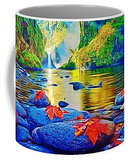 Coffee Mug featuring the painting More Realistic Version by Catherine Lott