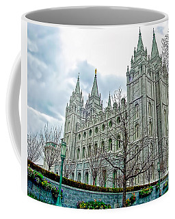 Mormon Temple In Early Spring Coffee Mug by Gary Holmes