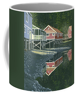 Coffee Mug featuring the painting Morning At Telegraph Cove by Gary Giacomelli