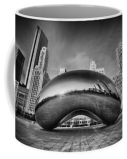 Morning Bean In Black And White Coffee Mug