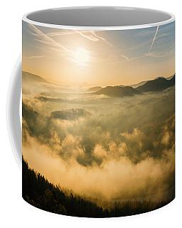 Morning Fog In The Saxon Switzerland Coffee Mug