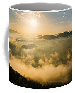 Morning Fog In The Saxon Switzerland Coffee Mug