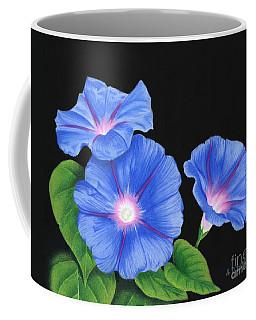 Morning Glories At Night Coffee Mug
