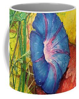 Morning Glory Bloom In Apples Coffee Mug
