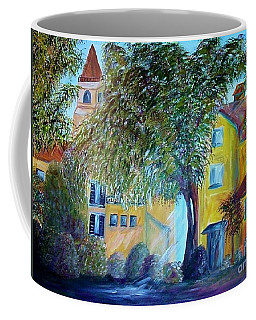 Coffee Mug featuring the painting Morning In Tuscany by Eloise Schneider